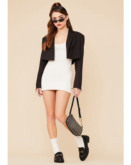 Seeking Glamour Crochet Knit Bodycon Mini Dress