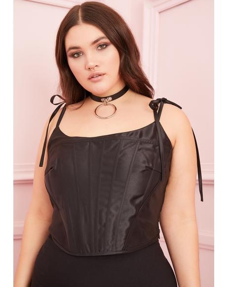 Noir True Love Unscripted Corset Top
