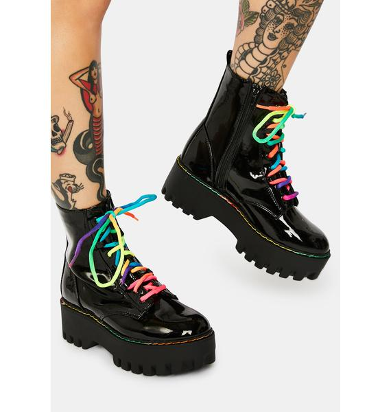 Patent Onyx Too Famous Boots
