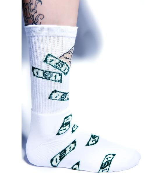 40s & Shorties Make It Rain Socks