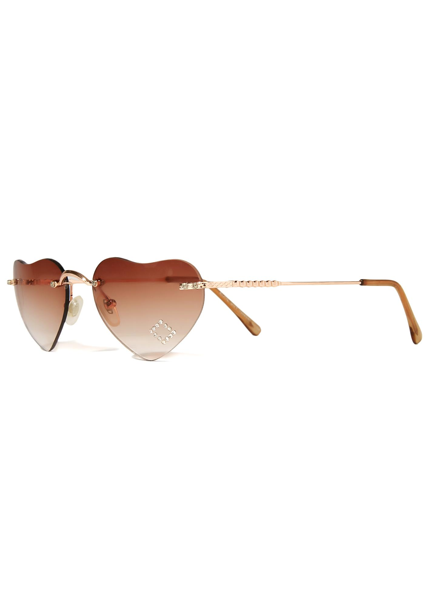 Chocolate Lolita Hearts Sunglasses