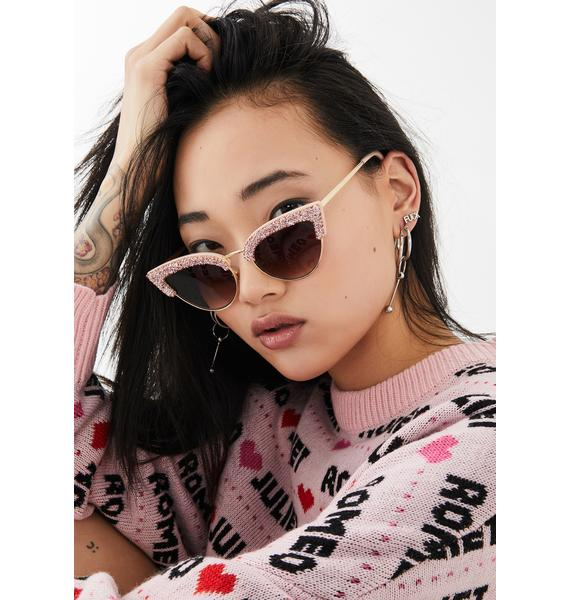 Dramatic Edition Glitter Sunglasses
