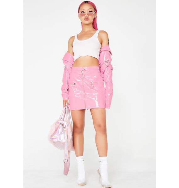 Sugar Thrillz Mad Sass Patent Skirt