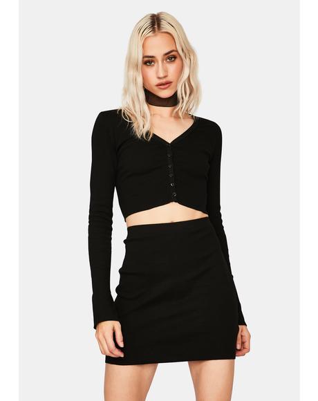 Ink Feeling Polite Skirt Set