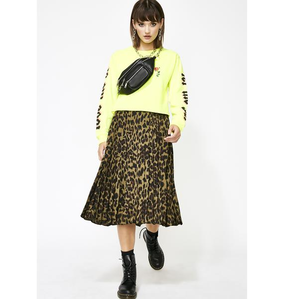 Dank Wild About You Leopard Skirt