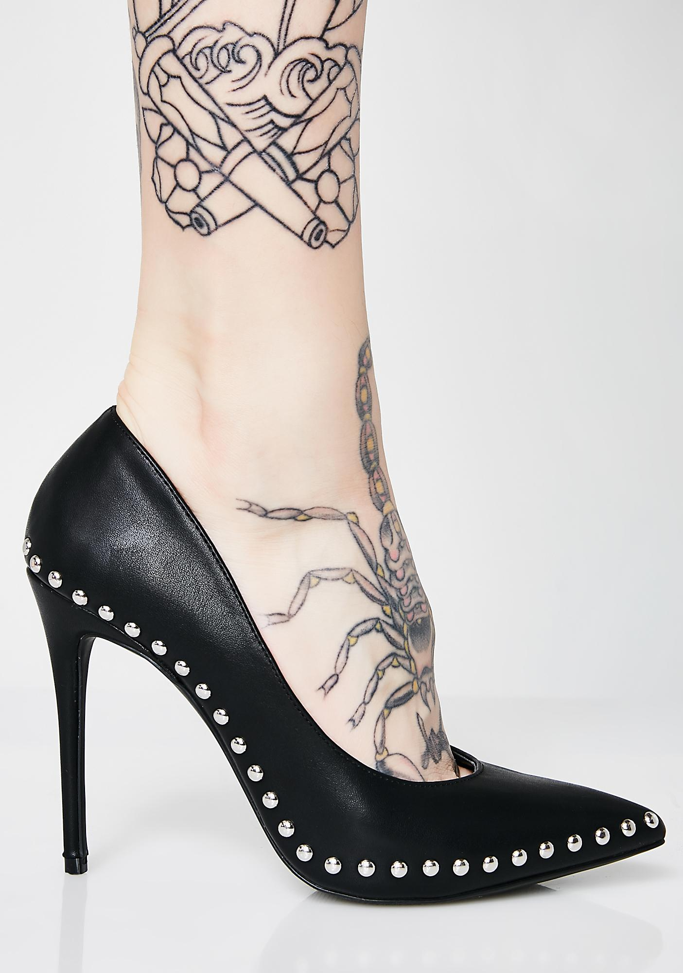 On The Edge Studded Heels