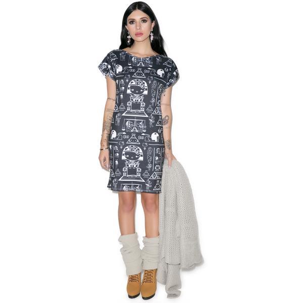 Japan L.A. Pharaoh Kitty Tunic Dress