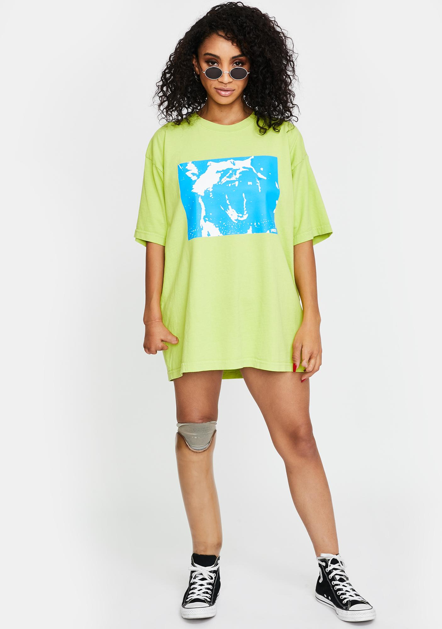 Obey Bright Lime Mixed Up Graphic Tee