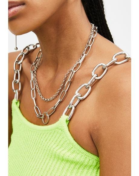 Platinum Pricey Passions Layered Necklace
