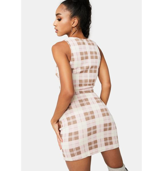 Posh Priority Plaid Mini Skirt
