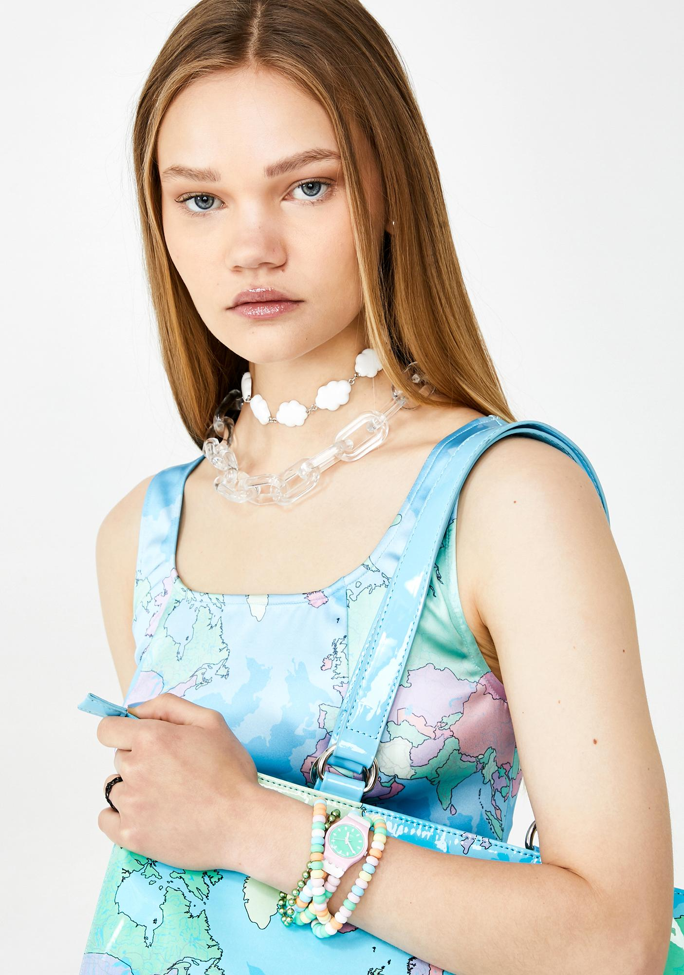 Clearly Sprung Chain Necklace