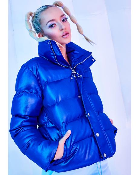 Ambient Avalanche Metallic Puffer Jacket