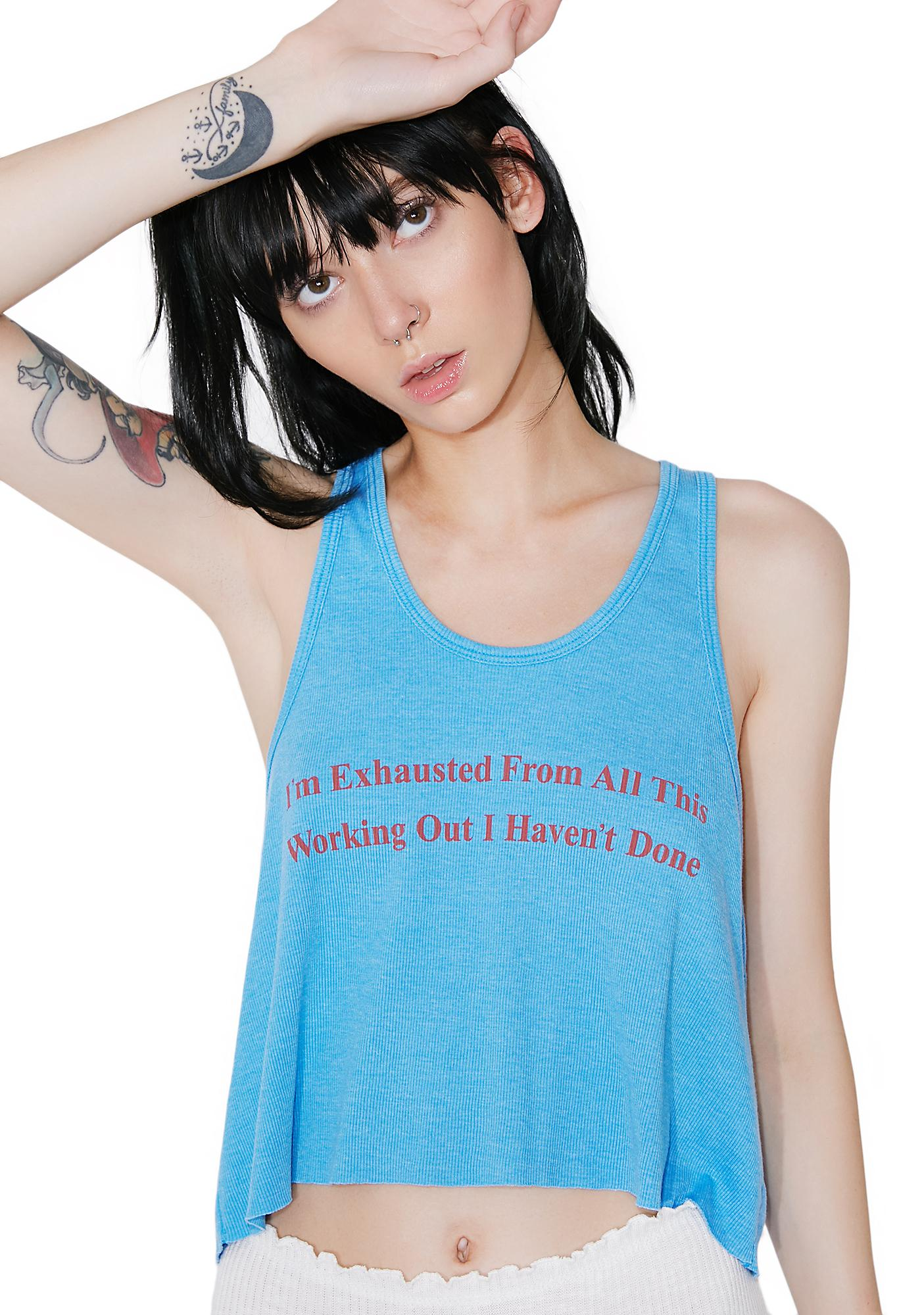 Wildfox Couture Never Working Out Tank