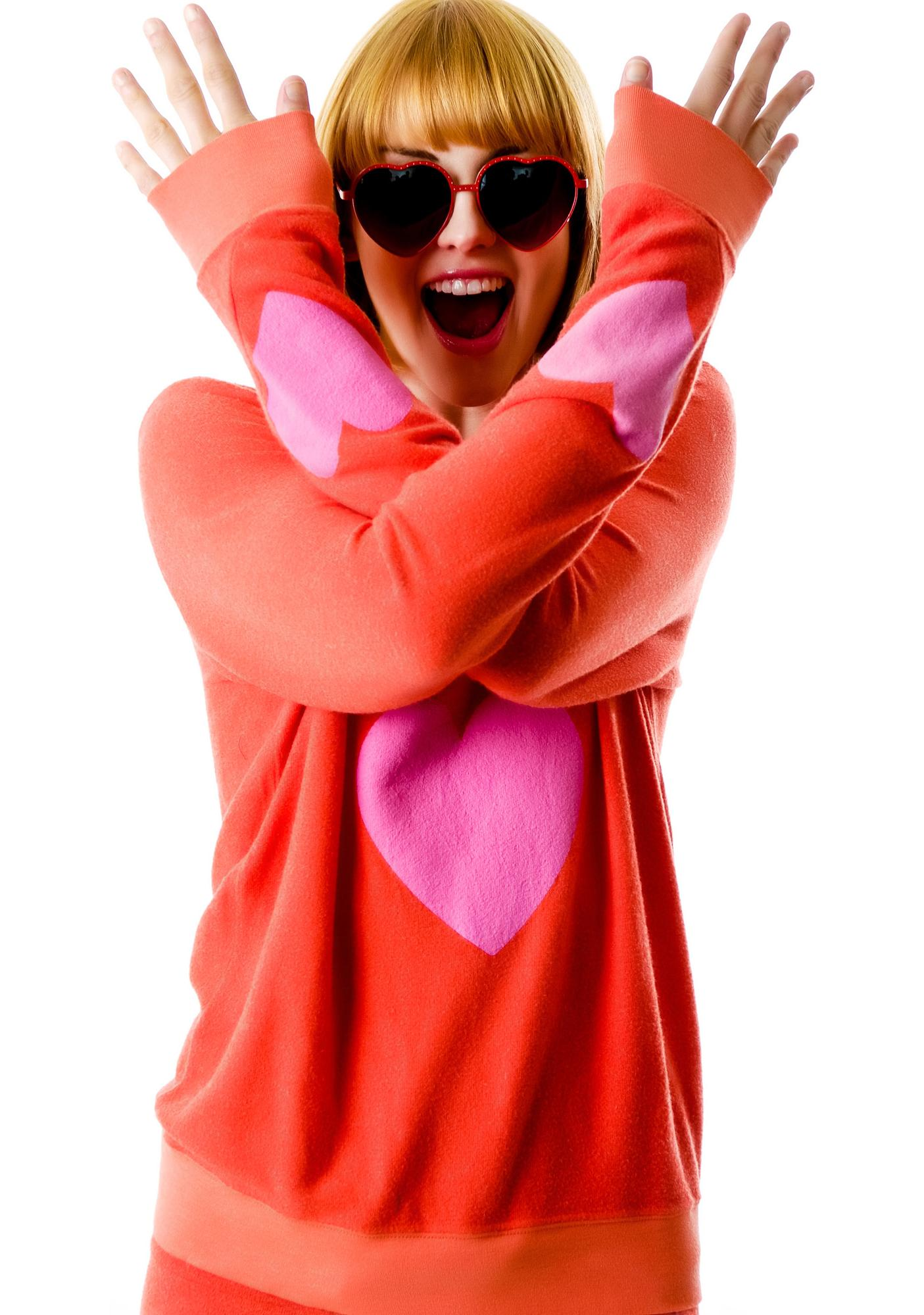 Wildfox Couture Happy Heart Baggy Beach Jumper