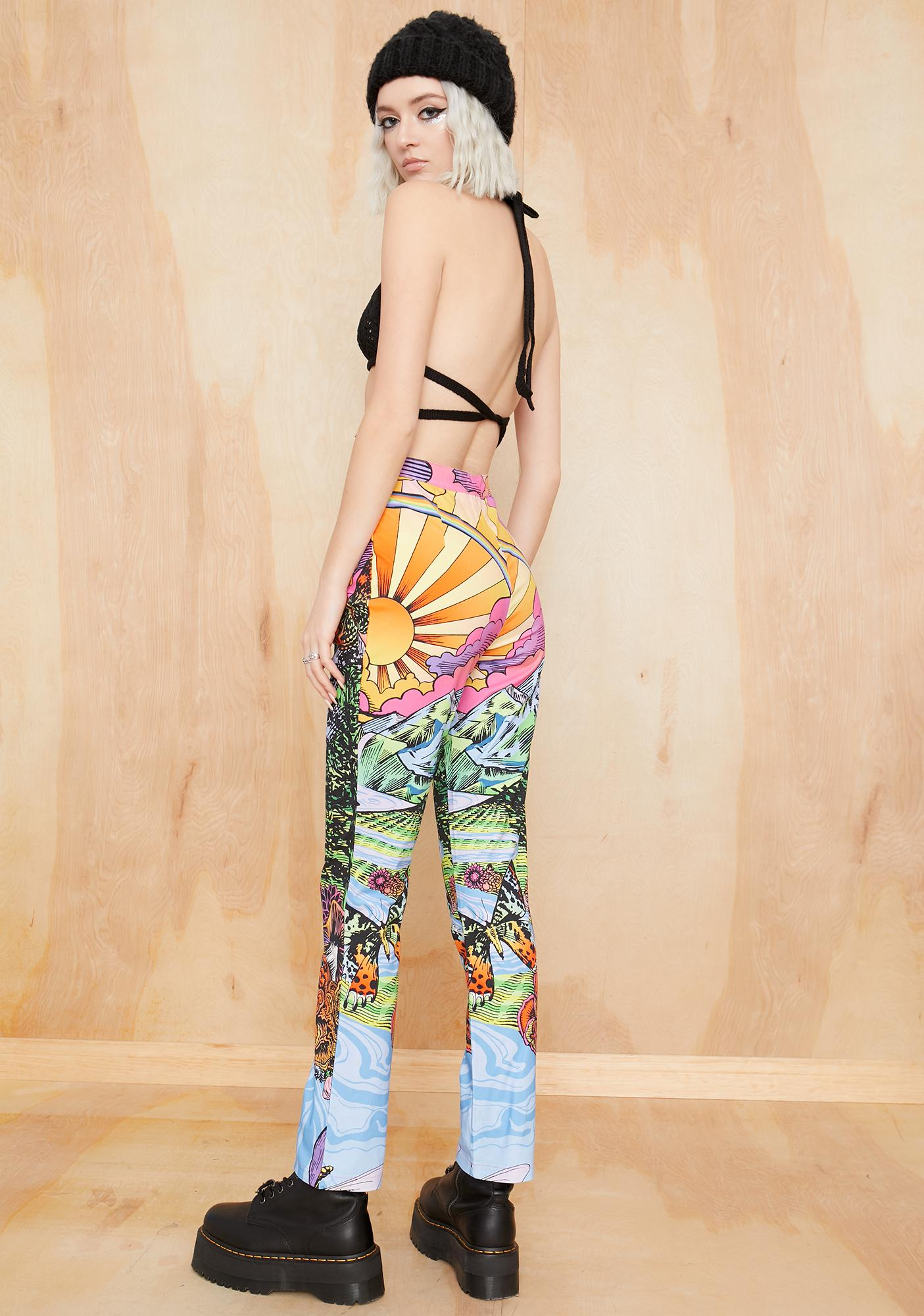 Current Mood California Dreamin' Printed Pants