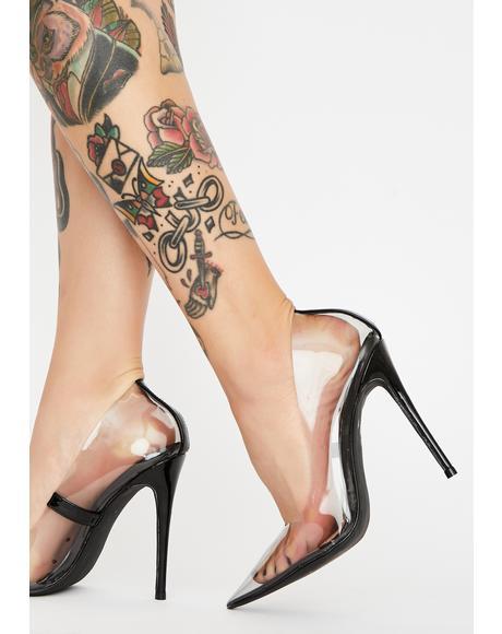 Smoke Madame PVC Heels