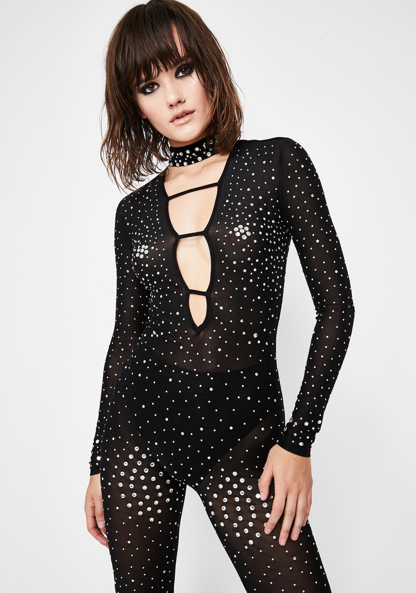 Bling Haven Sheer Catsuit