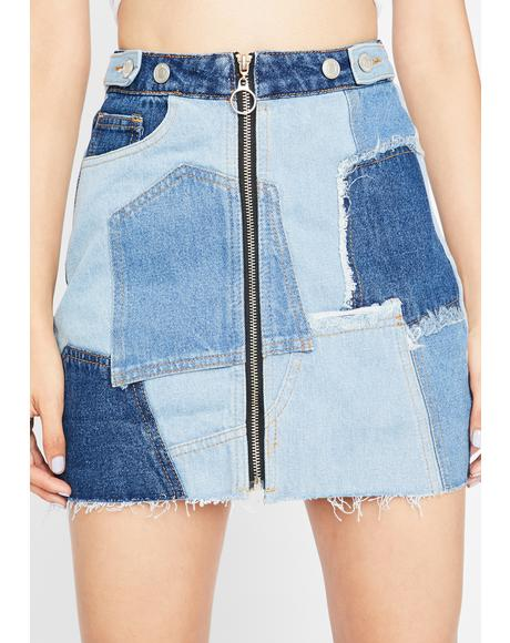 Sassy N' Bad-azzy Denim Skirt