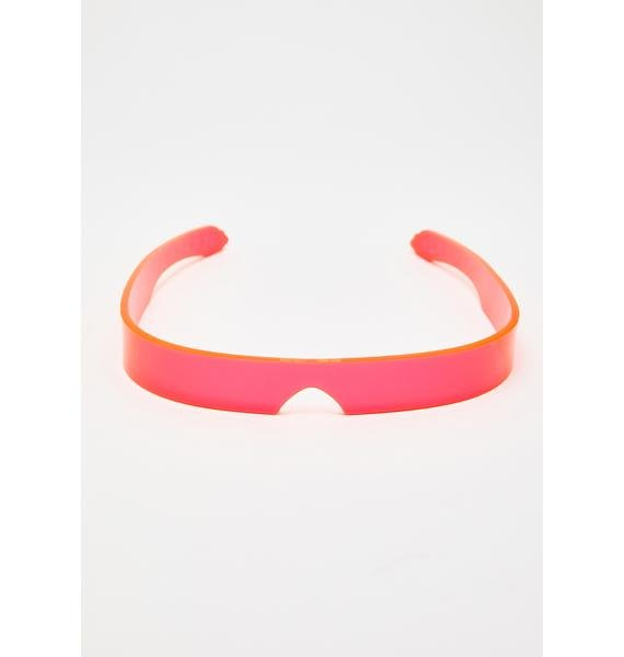 Cyberdog Pink Flash Visor