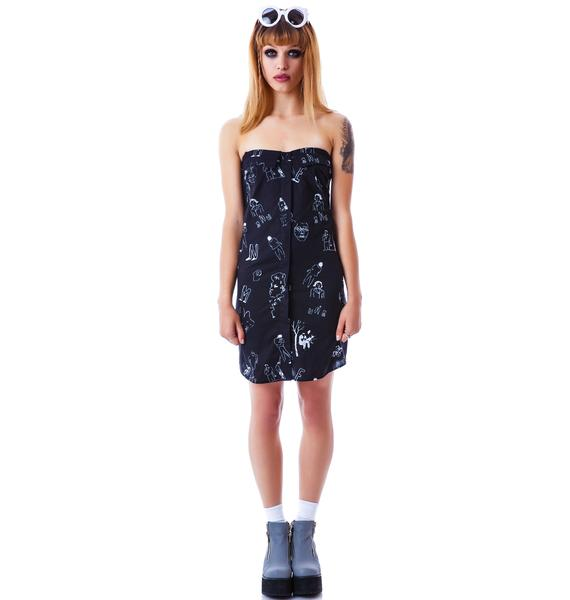 So Sketchy Tube Dress