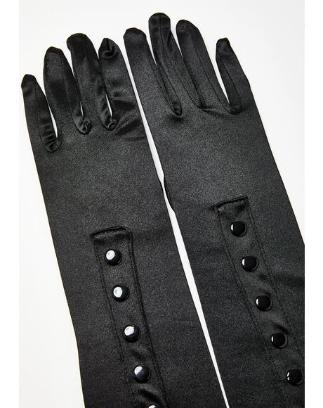 Electro Glam Satin Gloves