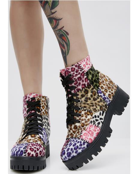 Leopard Junkyard Boots