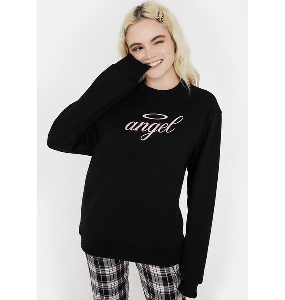 Minga Black Angel Graphic Sweatshirt