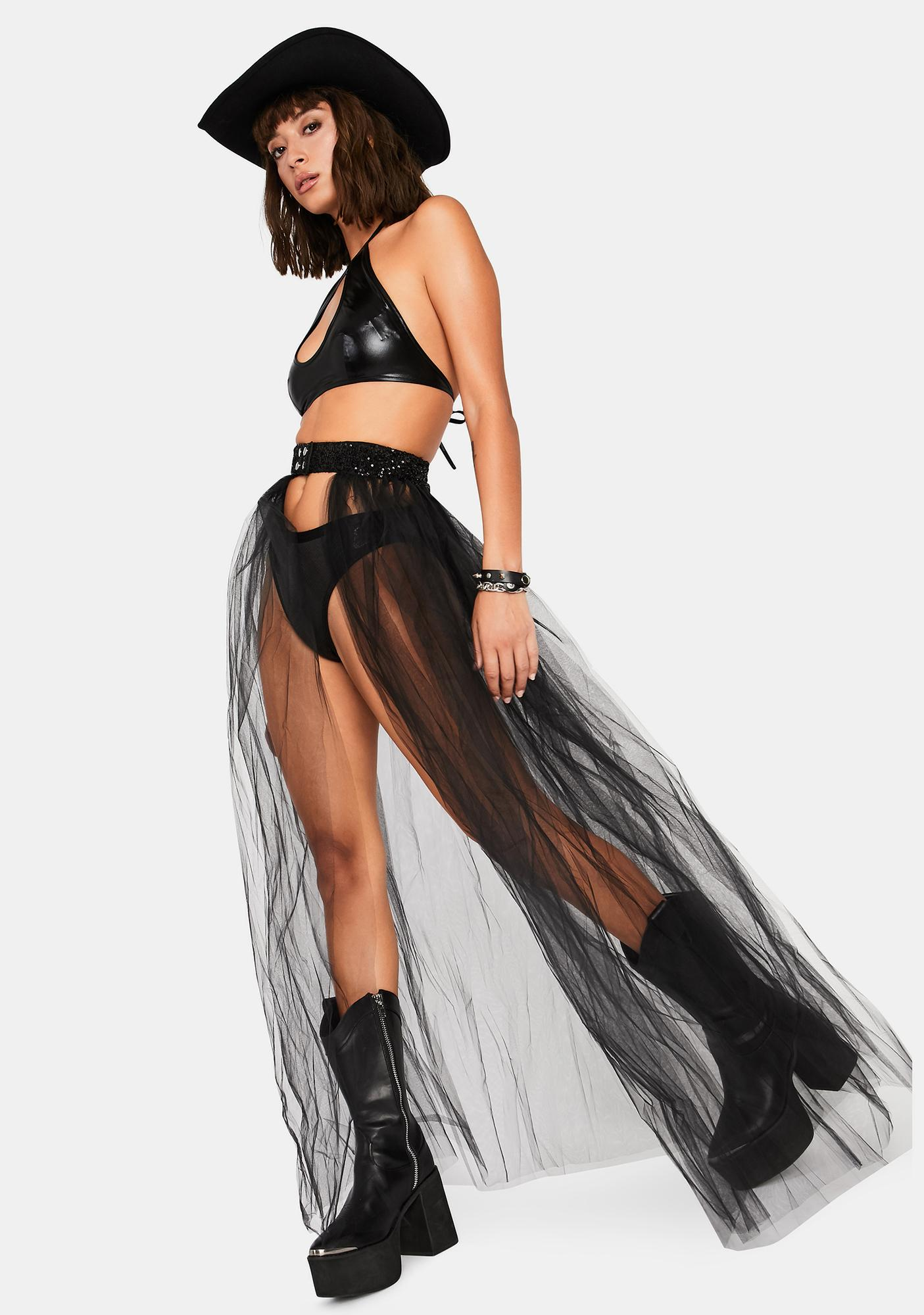 Midnight Not An Angel Tulle Skirt