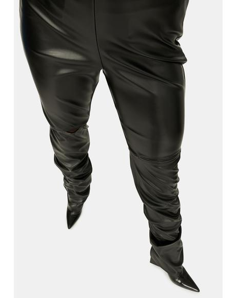 Duality Needed Faux Leather Baggy Pants