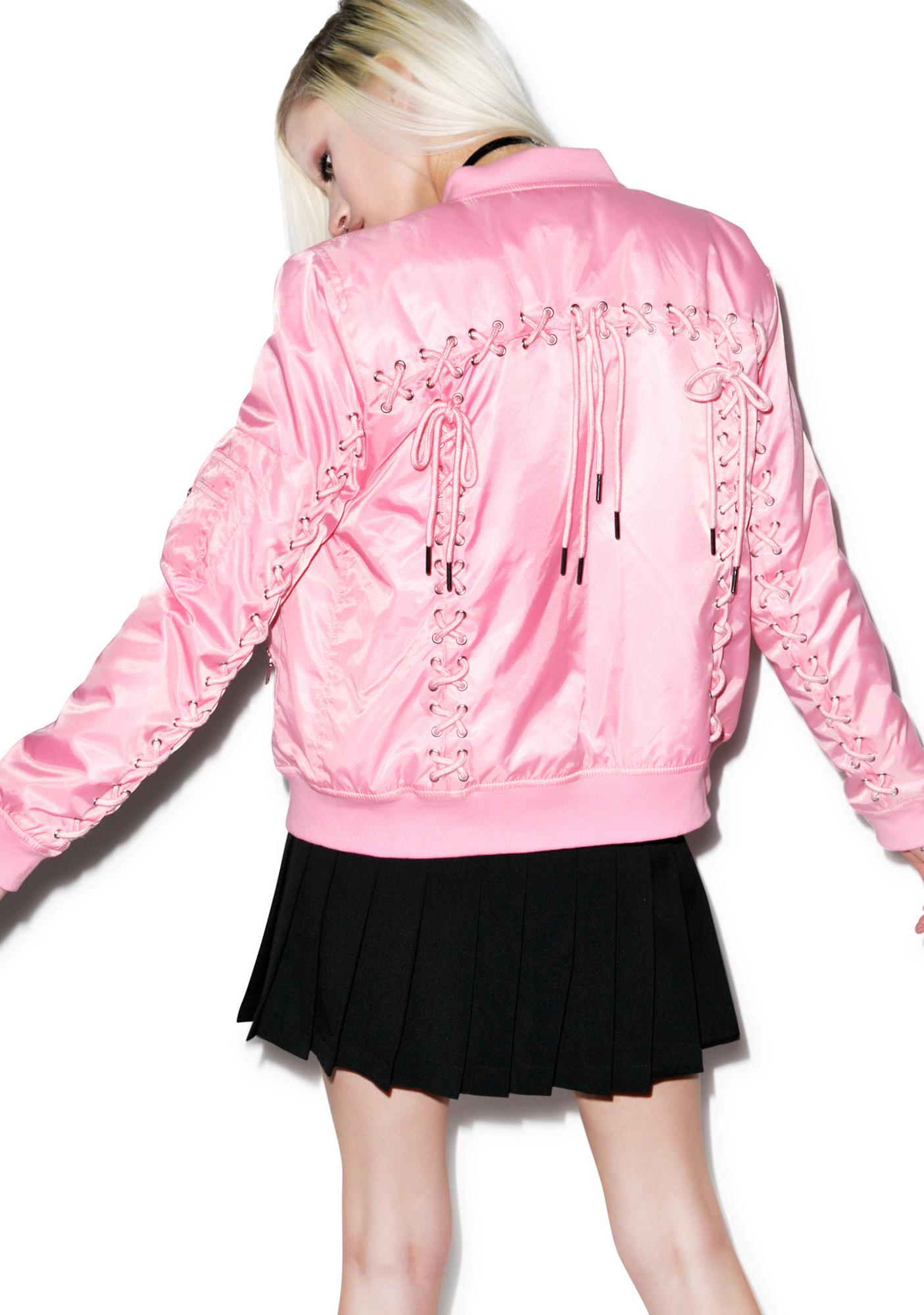 Current Mood Corset Bomber Jacket