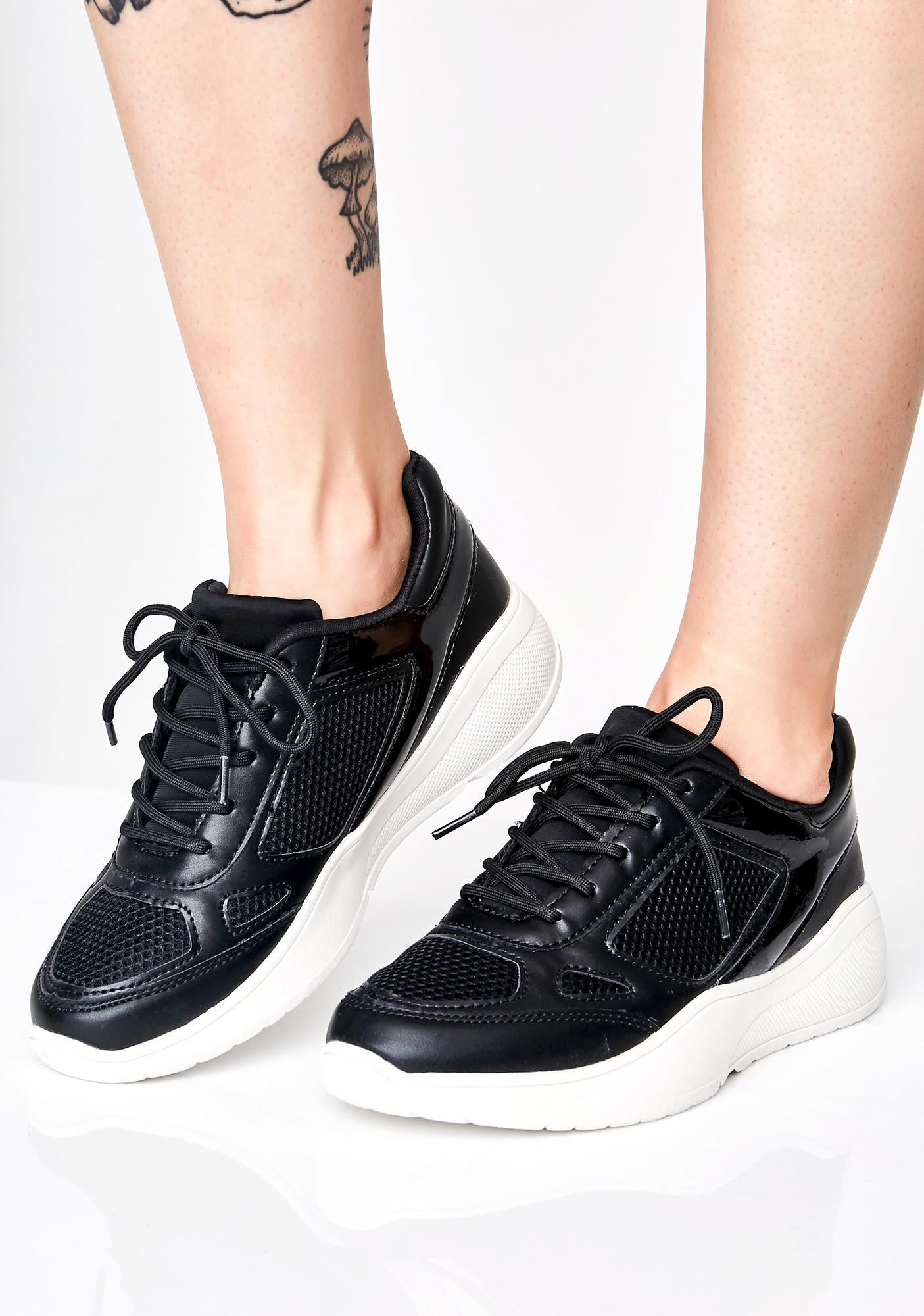 Vegan Leather Dad Sneakers | Dolls Kill