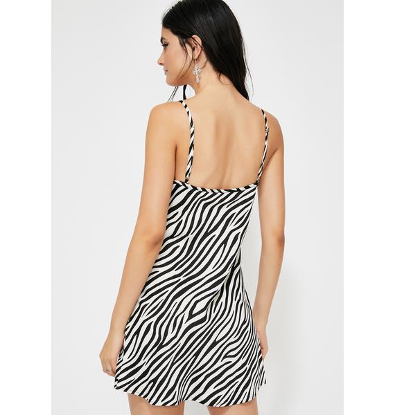 Fierce Bae Zebra Dress