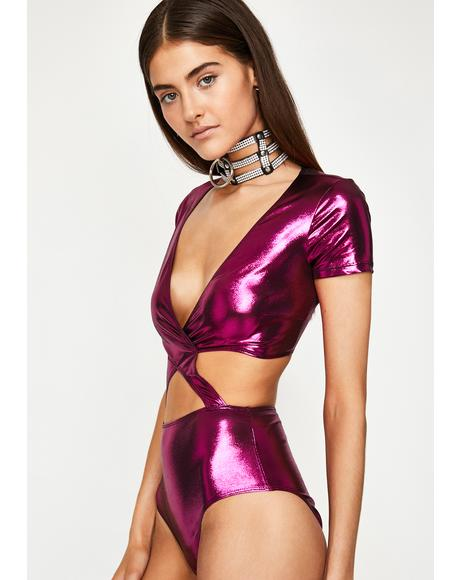 Miss Magnetic Trance Metallic Bodysuit
