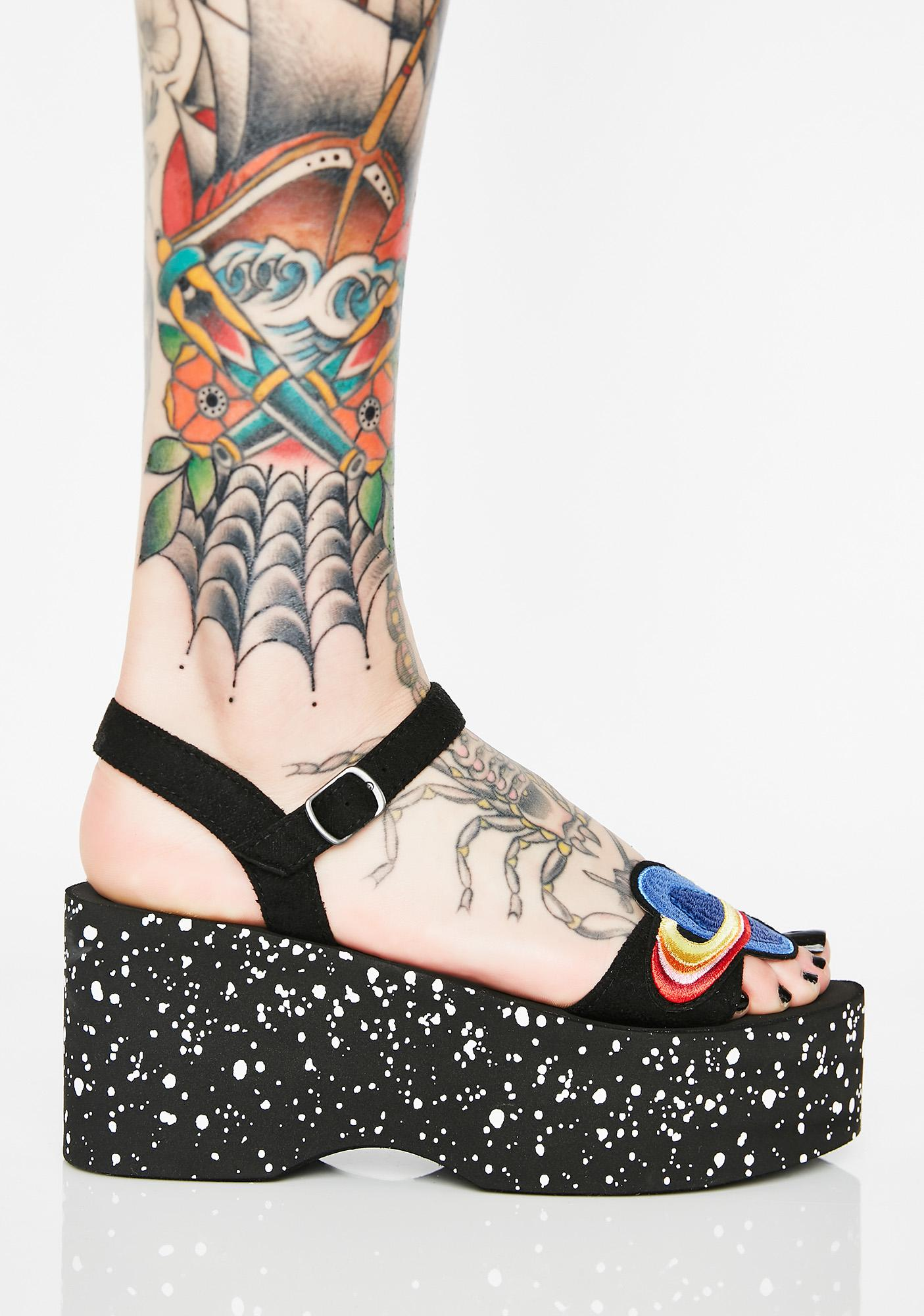 Rocket Dog Lazerbeam Space Patch Platform Sandals