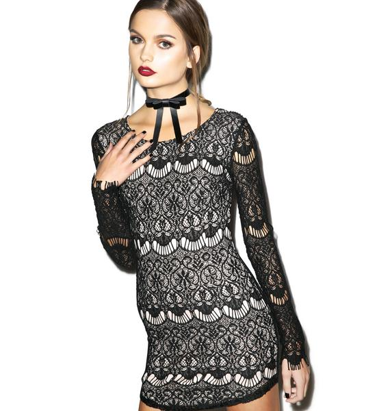 Bachata Lace Bodycon Dress