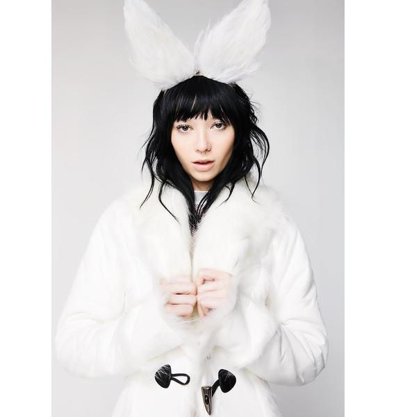 Rock n Rose Jessica Feather Bunny Ears Headband