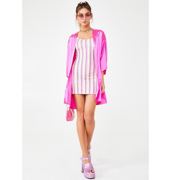 NEW GIRL ORDER Candy Glitter Stripe Dress