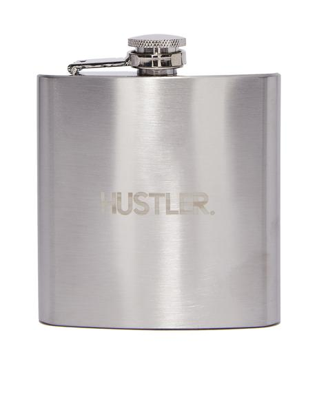 Square Hustler Logo Hip Flask