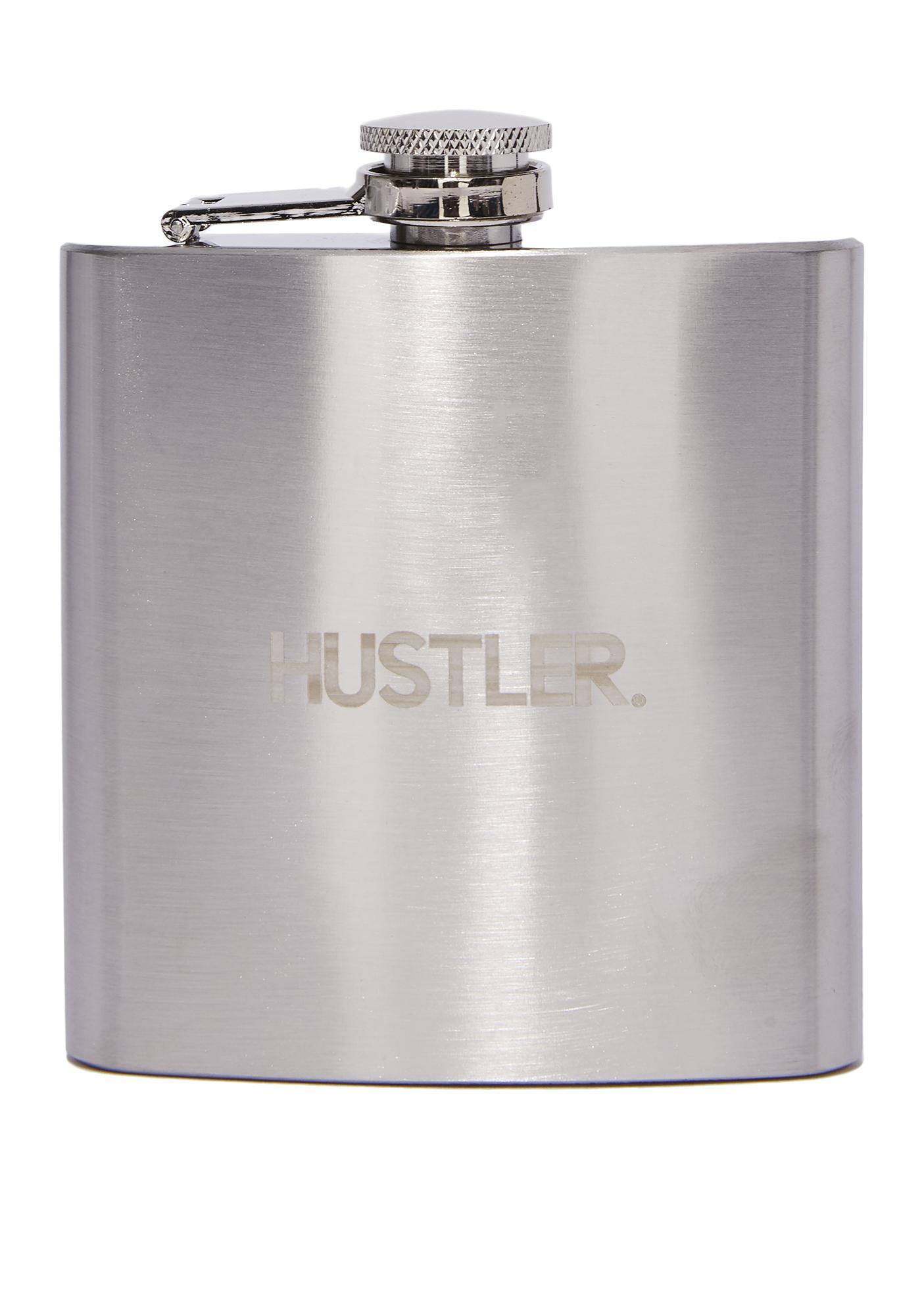 Hustler Square Hustler Logo Hip Flask