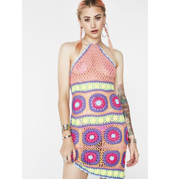 Current Mood Free Your Mind Crochet Dress
