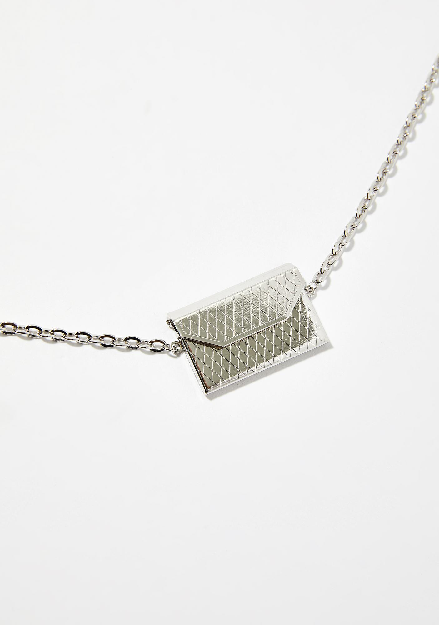 Gone Postal Envelope Necklace