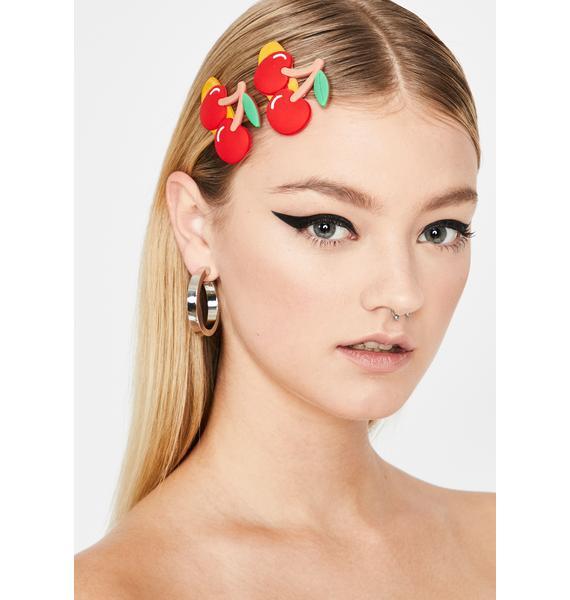 Merry Cherry Hair Clips