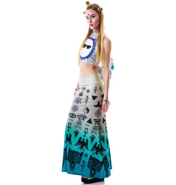Too Fast Occult Hella Maxi Skirt