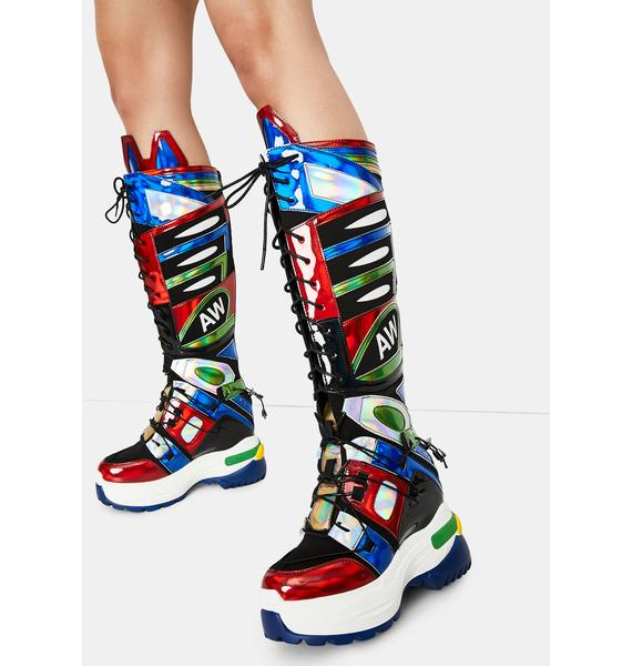 Anthony Wang Oval Wedge Sneaker Boots