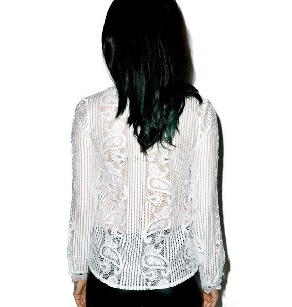 Dawn Paisley Long Sleeve Top