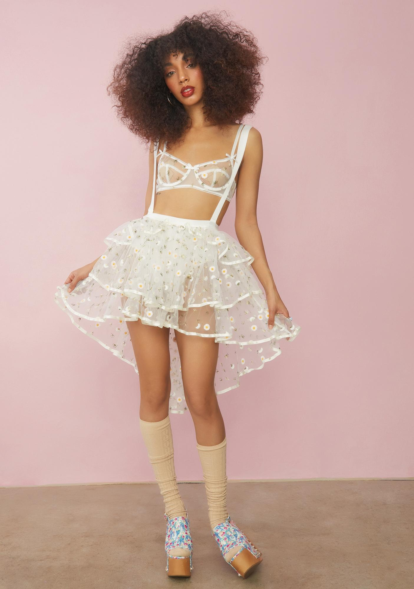 Sugar Thrillz Come Away With Me Suspender Skirt