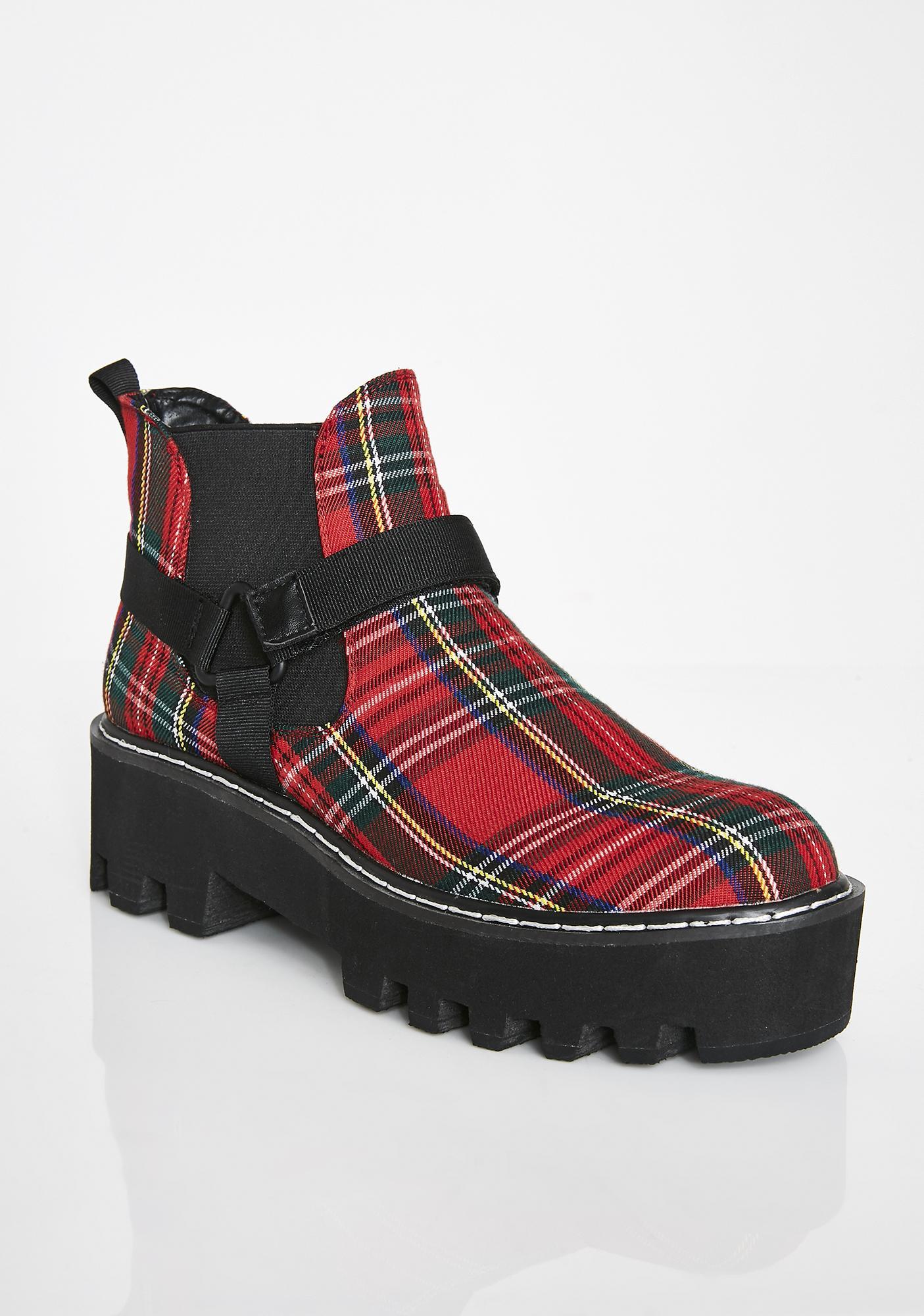 Lamoda Super Badazz Plaid Boots