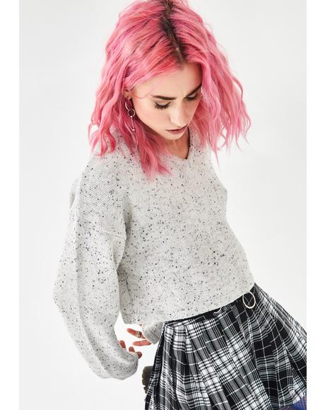 Ghostly Static Noise Marled Sweater