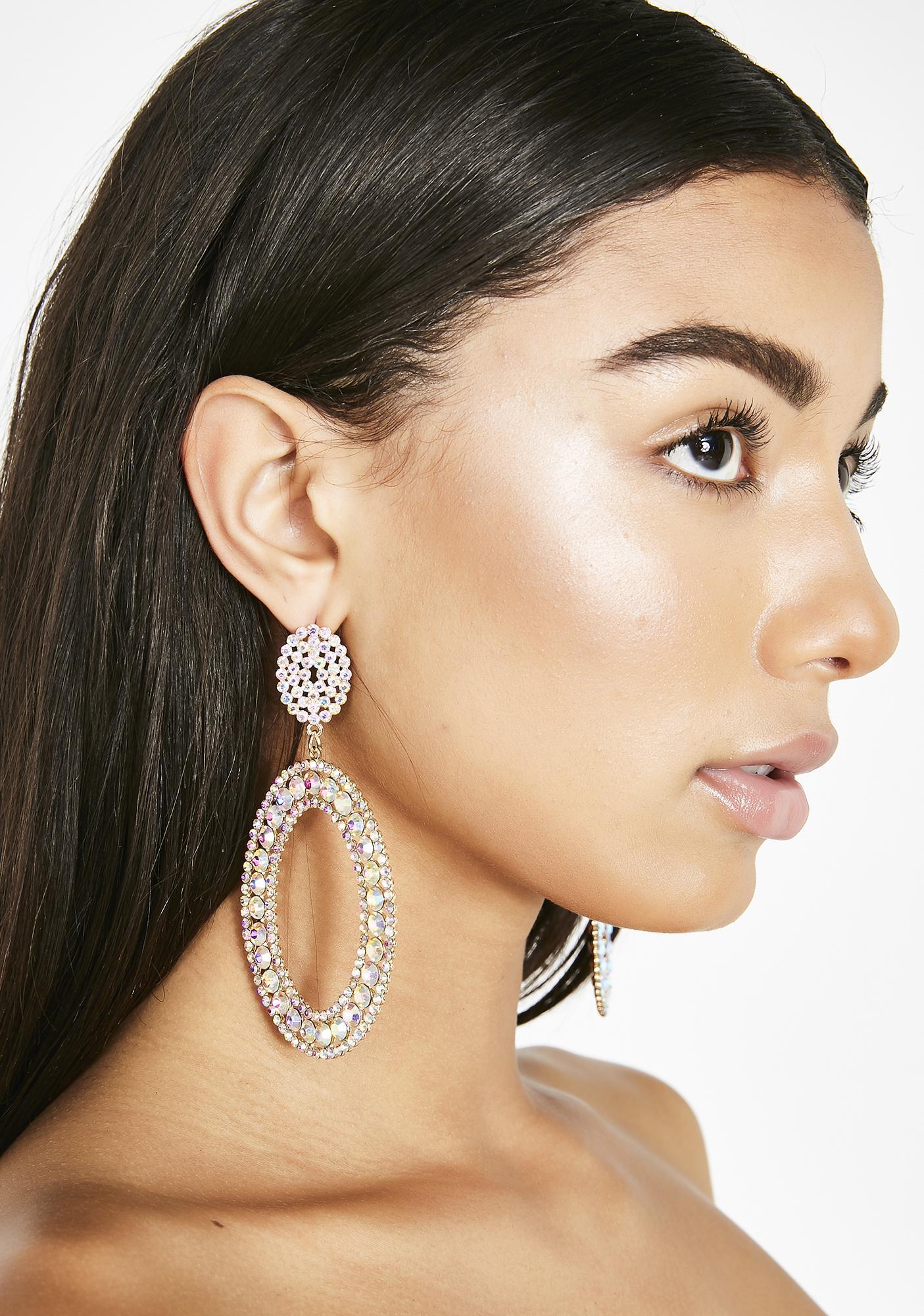 Dazzling Duchess Rhinestone Earrings