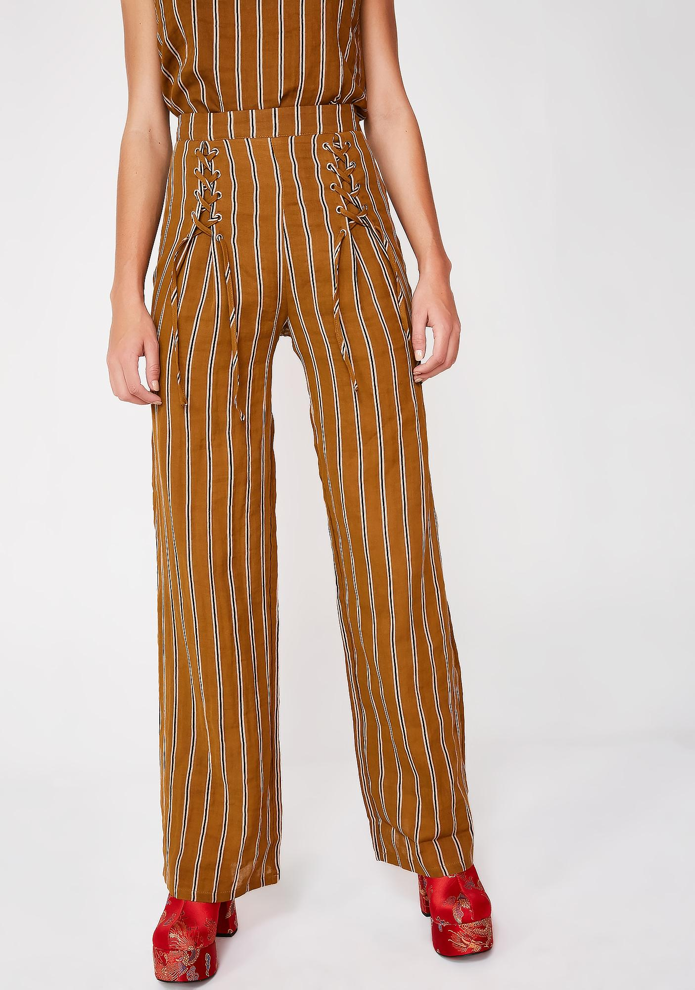 Oh So Foxy Tie Up Pants